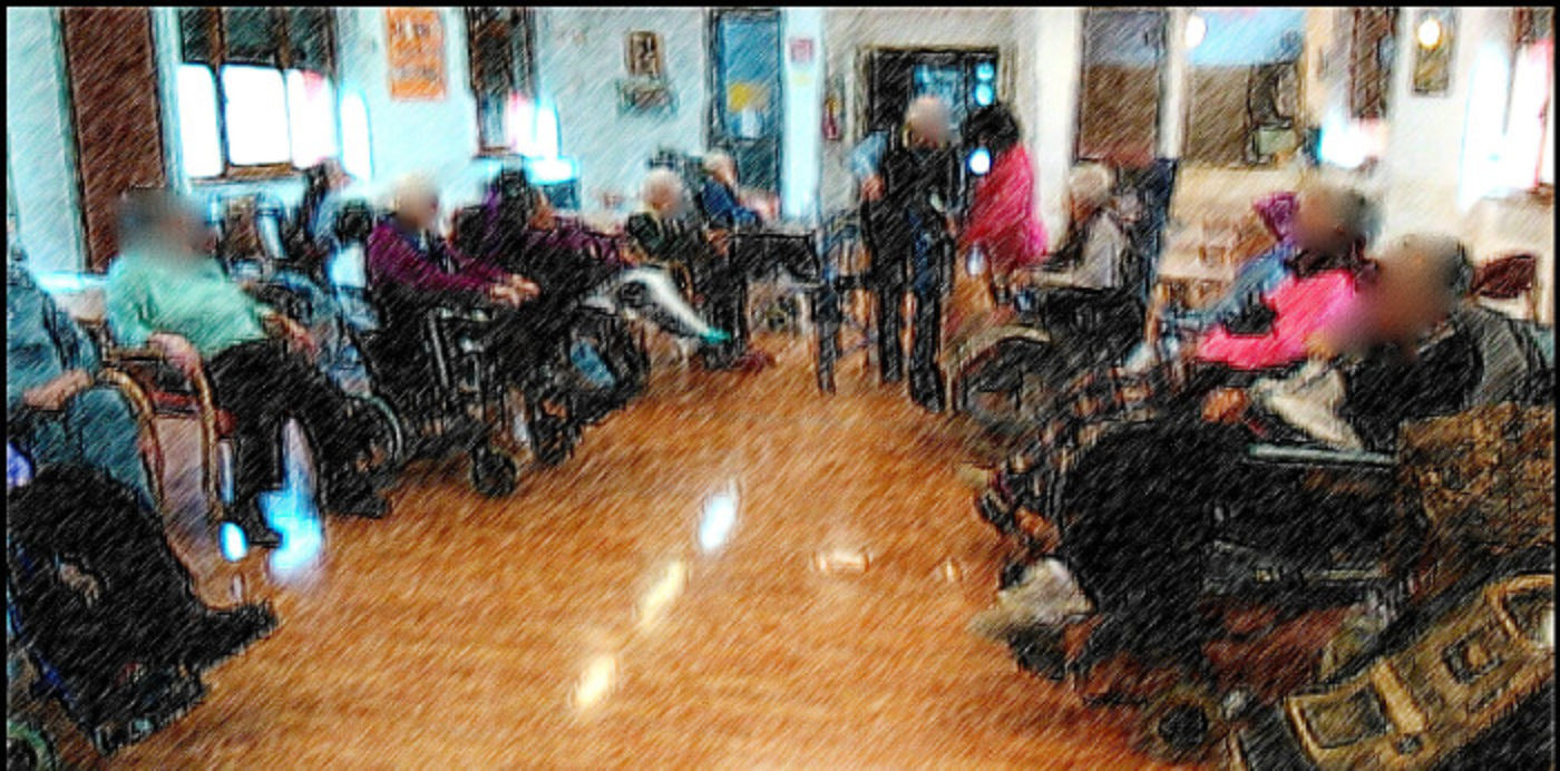 Il gruppo di condivisione dei ricordi con gli anziani ospiti di una casa di riposo